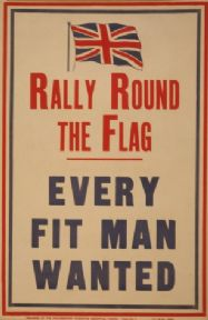 "Vintage English WW1 Poster ""Rally round the flag"""